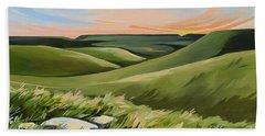 Tallgrass Prairie Paintings Bath Towels