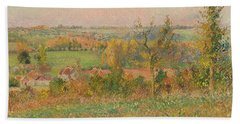 The Hills Of Thierceville Seen From The Country Lane Bath Towel