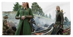 The Hobbit The Battle Of The Five Armies Evangeline Lilly Orlando Bloom Hand Towel