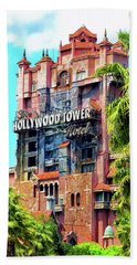 The Hollywood Tower Hotel Walt Disney World Pm Hand Towel