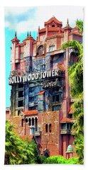 The Hollywood Tower Hotel Walt Disney World Pm Bath Towel