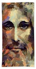 The Holy Face Of Jesus  Bath Towel