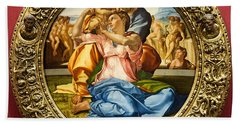 The Holy Family - Doni Tondo - Michelangelo Bath Towel