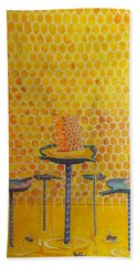 The Honey Of Lives Bath Towel by Lazaro Hurtado