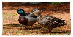 The Honeymooners - Mallard Ducks  Hand Towel