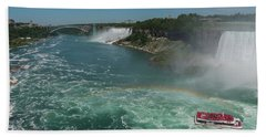 Bath Towel featuring the photograph The Hornblower, Niagara Falls by Brenda Jacobs