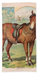 The Horse Victorian Chromolithograph Bath Towel