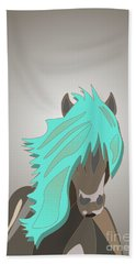 The Horse With The Turquoise Mane Bath Towel
