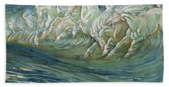 The Horses Of Neptune Bath Towel