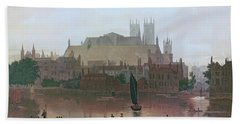 The Houses Of Parliament Hand Towel by George Fennel Robson