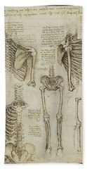 Hand Towel featuring the painting The Human Ribcage by James Christopher Hill