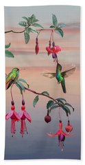 The Hummingbird Fuchsia Hand Towel