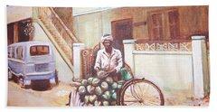 The Indian Tendor-coconut Vendor Bath Towel