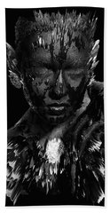 Bath Towel featuring the digital art The Inner Demons Coming Out by ISAW Company
