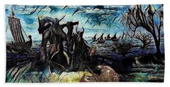 The Insurperable Guard Of The Land Of Danes And Brave Vikings Bath Towel