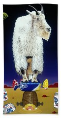 The Intoxicated Mountain Goat Bath Towel