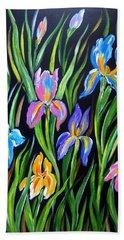 The Irises Hand Towel