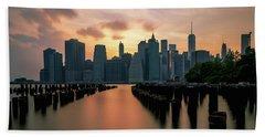 The Island Of Manhattan  Hand Towel