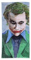 The Joker In His Own Words Hand Towel