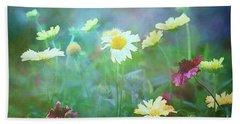 The Joy Of Summer Flowers Bath Towel