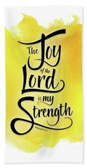 The Joy Of The Lord - Yellow Hand Towel