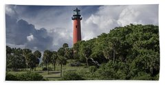 The Jupiter Inlet Lighthouse Bath Towel