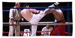 The Kickboxer  Hand Towel