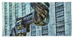 The Knotted Gun Hand Towel by Allen Beatty