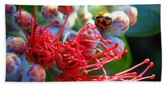 The Ladybug And The Flower Hand Towel