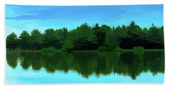 The Lake - Impressionism Hand Towel