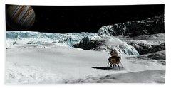 The Lander Ulysses On Europa Bath Towel by David Robinson