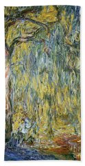 The Large Willow At Giverny Hand Towel