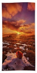 Hand Towel featuring the photograph The Last Pumpkin by Phil Koch