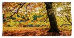 The Last Rays Of Golden Autumn Bath Towel