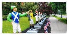 The Lawn Jockeys Of Saratoga Springs Hand Towel