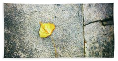 Bath Towel featuring the photograph The Leaf by Silvia Ganora
