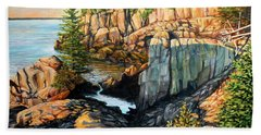 The Light Dawns On West Quoddy Head Hand Towel