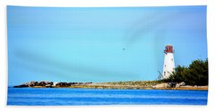 The Lighthouse At Sea Hand Towel