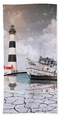Hand Towel featuring the photograph The Lighthouse by Juli Scalzi