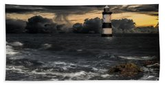 The Lighthouse Storm Hand Towel