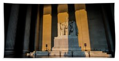 The Lincoln Memorial At Sunrise Hand Towel