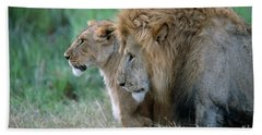 The Lion And His Lioness Hand Towel