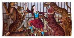 The Lion Queen Print, 1874 Bath Towel