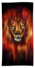 The Lion, The Bull And The Hunter Bath Towel