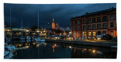 The Little Harbor In Stralsund Hand Towel