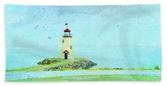 The Little Lighthouse That Could Bath Towel