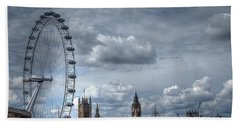 The London Eye And Skyline Hand Towel