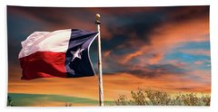 The Lone Star Flag Bath Towel