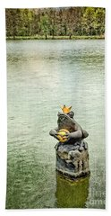 The Lonely Frog King Bath Towel