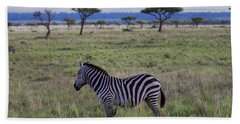 The Lonely Zebra Hand Towel